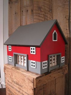 Kids Will Drool At The Fun They Imagine With This Large Toy Wooden Barn Includes 4 Sections By