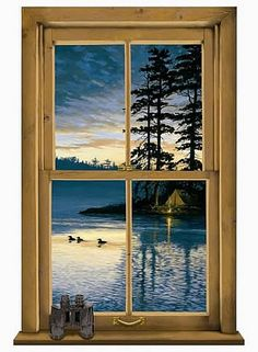 We offer for sale a large selection of Log Cabin Window Mural wall murals and photo murals in all sizes. Plus tips on wall mural installation. Window Mural, Window View, Windows Wallpaper, Home Wallpaper, Luxury Wallpaper, Custom Wallpaper, Wallpaper Ideas, Mural Art, Wall Murals