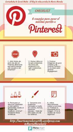 Infografía: 6 consejos para sacar el máximo partido a #Pinterest. Curiosidades de Social Media, el blog de redes sociales de Marta Morales.