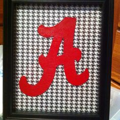 Easy craft/ very affordable! Roll Tide!