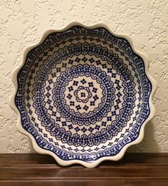 Polish Pottery Scalloped by MimisMiniMarketplace on Etsy