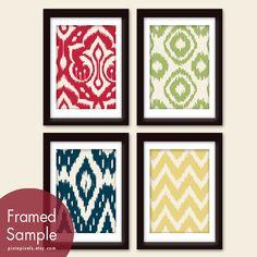 Ikat Tribal Patterns Series A Set of 4  5x7 Art by pixiepixels, $25.47