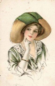 Vintage portrait illustration -