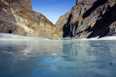 Zanskar river, Ladakh, India-  For here, on the Chadar ice trek, you get to walk on frozen water!