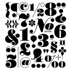 the most beautiful thing I've seen in months... Worthe Numerals | Typeface Review | Typographica