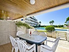 SPACIOUS GROUND FLOOR APARTMENT WITH DIRECT BEACH ACCES S206-225 PLAYAMERO   Holiday Rental in Salou from @HomeAwayUK #holiday #rental #travel #homeaway 2 Bedroom Apartment, Home And Away, Ground Floor, Patio, Flooring, City, Beach, Outdoor Decor, Holiday