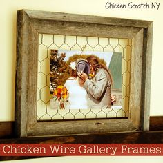 Chicken Wire Frame Tutorial | Ever since I was considering chicken wire for another project, I wondered how long it would take for the DIY world to go nuts for it ha! LOVE the frame idea