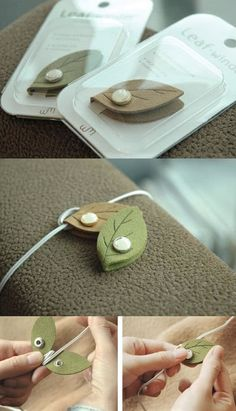 Do you hate seeing tangled earphones as much as I do? Then Leaf Earphone Organizer will be a real treat! Prevent the earphones from being tangled by rolling it up and closing the organizer with the button closure and keep it always organized! This organizer also has a cute leaf design and makes a great decoration as well.