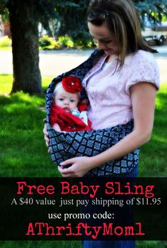 free baby sling FREE BABY SLING ~ SEVENSLINGS.COM WITH PROMO CODE ATHRIFTYMOM1 #Baby #Free #GiftIdea