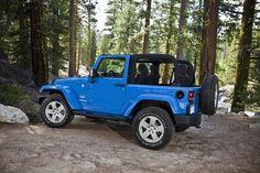 light blue jeep wrangler