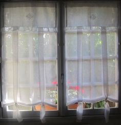 Tie up Curtain White Linen Curtain French