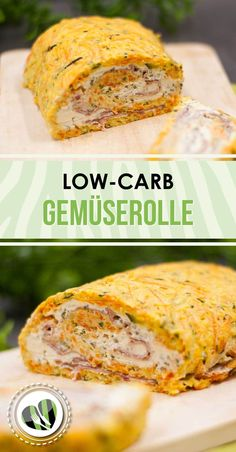 Die Gemüserolle mit Kräuterquarkfüllung ist ein Low-Carb-Gericht das kalt und… The vegetable roll with herb quark filling is a low carb dish that can be enjoyed cold and warm. In addition, it is gluten-free. Low Carb Desserts, Low Carb Recipes, Diet Recipes, Vegan Recipes, Lunch Recipes, Low Carb Lunch, Low Carb Diet, Sans Gluten, Protein