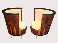 Art Deco Tete a Tete Chairs