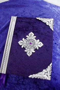 Handmade Blank Spell book....wiccan by CustomHandMadeBooks on Etsy