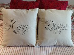 Royal King and Queen decorative fun cushion by CreativelyCouture, $30.00