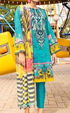 Lawn Suits, Famous Brands, Sapphire, Turquoise, Stuff To Buy, Clothes, Outfits, Clothing, Green Turquoise