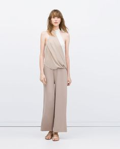 Image 1 of TWO-TONE DRAPED JUMPSUIT from Zara