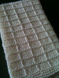 Ravelry: Waffle Preemie Blanket pattern by Lisa Thomas Baby Knitting Patterns, Loom Knitting, Knitting Stitches, Baby Patterns, Stitch Patterns, Manta Crochet, Knit Or Crochet, Crochet Pattern, Free Pattern