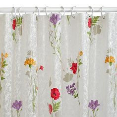 India Ink™ Wildflower Printed PEVA Shower Curtain in Floral