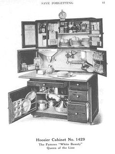 Original Hoosier cabinet.  One of several brands from way back when... great all-in-one tiny kitchen storage.