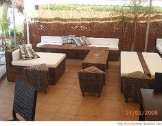 muebles de jardin con palets