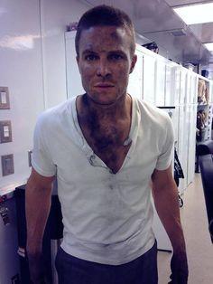Filming day 1 of Season 3, Arrow.