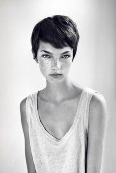 crop hair-cut. Holy crap she is gorgeous next haircutttt