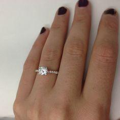 1 02 Ct Round Brilliant Cut Diamond Engagement Ring 14k White Gold   eBay