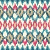abstract ikat pattern : Vector seamless ikat ethnic pattern