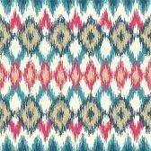 abstract ikat pattern : Vector seamless ikat ethnic pattern