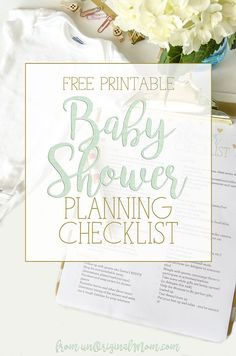 baby shower checklist planner