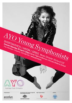 Australian Youth Orchestra Poster Graphic Design North Sydney. Design: www.theend.com.au