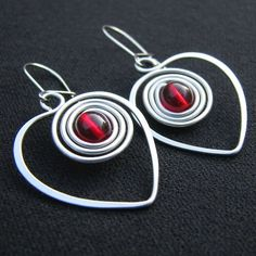These wire earrings are full of love. Use some Tronex Pliers to create and form your wire creations. http://www.eternaltools.com/product-category/other-tools/pliers-cutters/