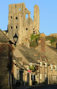 The 11th century Corfe Castle by OutdoorMonkey, Dorset, England, built by William the Conqueror