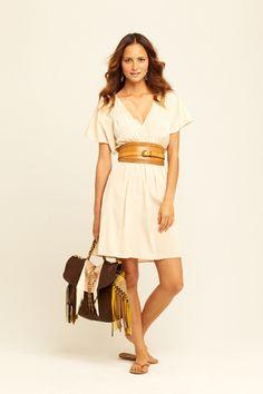 calypso cream molly silk solid dress