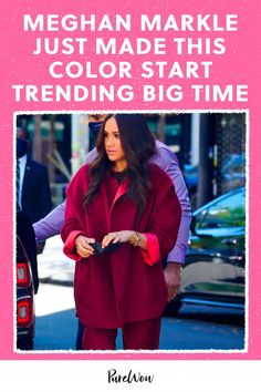 While Meghan Markle rocked several monochromatic looks during her recent trip to New York, one particular outfit made a specific color start trending. Find out which one. #MeghanMarkle #royal #style British Royal Family Tree, Royal Family Trees, Meghan Markle Style, Minimalist Chic, New York Travel, Big Time, Royal Fashion, Duchess Of Cambridge, British Royals