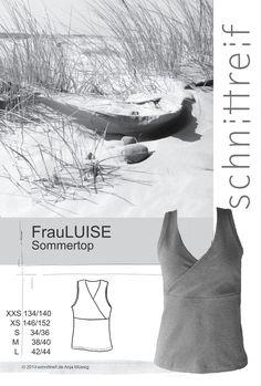 FrauLUISE - Sommertop, Schnittmuster