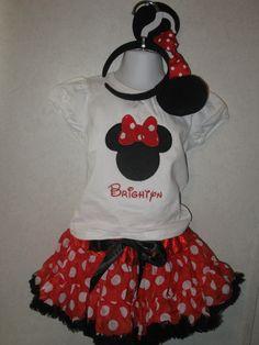 Minnie Mouse Halloween Onesie Shirt Pettiskirt by rowanmayfairs, $68.00