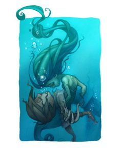 Fine Art Print of The Little Mermaid by Chris por ChrisNewberg