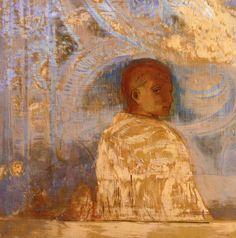 Odilon Redon ~ The Gaze, c.1910