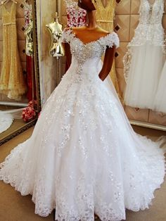 Cheap wedding gowns, Buy Quality vestido de noiva directly from China wedding dress Suppliers: Rhinestone Off the Shoulder Wedding Dresses 2017 Luxury Beaded vestido de noiva Wedding Gowns robe de mariage Custom Made Sexy Wedding Dresses, Tulle Wedding, Cheap Wedding Dress, Wedding Dress Styles, Wedding Gowns, Ivory Wedding, Mermaid Wedding, Bridal Dresses Online, Bridal Gowns