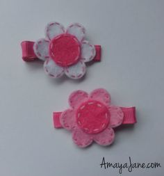 Felted Daisy Hair Clip { Amaya Jane Accessories }