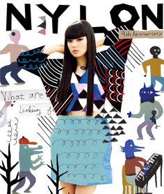 Shiro Ikeya | NYLON Japan – 9th anniversary cover art | http://whambamworld.com/