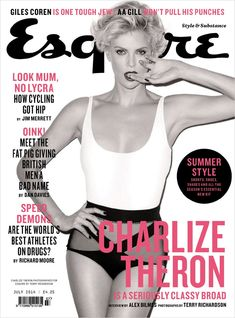 Charlize Theron for Esquire UK by Terry Richardson