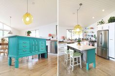 Transformed: Vintage Dresser To Kitchen Island