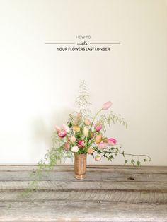 Making Your Flowers Last Longer from Wild Folk Studio  Read more - http://www.stylemepretty.com/living/2013/04/23/making-your-flowers-last-longer-from-wild-folk-studio/