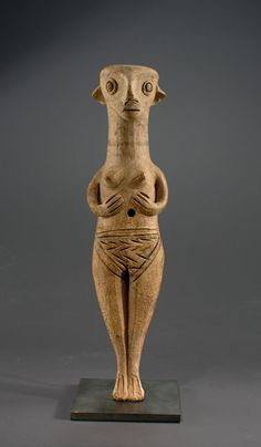 "Cypriote Ceramic Standing Female ""Idol""-  Late Bronze Age (circa 1450-1200 B.C.)