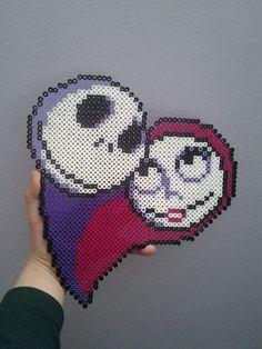 Jack and Sally Nightmare Before Christmas by TheSleepyBear