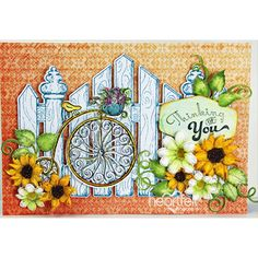 Gated Bicycle card made w/ Young at Heart collection from #HeartfeltCreations. #menscards