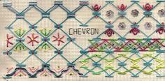 TAST 2012 Week 6 Chevron Stitch | by stitchintime posted on Flickr by Gayle Schipper